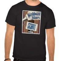 Washboard Blues Vintage Song Sheet Music Art T-shirts
