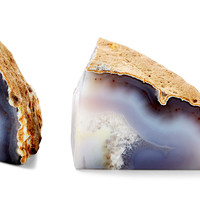 Pair of Agate Bookends, Natural, Bookends