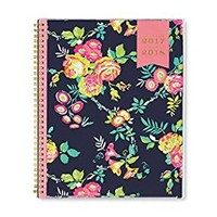 """Day Designer for Blue Sky 2017-2018 Academic Year Weekly & Monthly Planner, Twin-Wire Bound, 8.5"""" x 11"""", Navy Floral"""