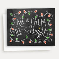 All is Calm, All is Bright - A2 Note Card