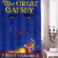 Great Gatsby shower curtain adorabel batheroom hane made