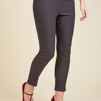 A Chic Start Pants in Charcoal | Mod Retro Vintage Pants | ModCloth.com