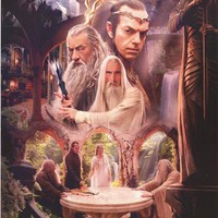 The Hobbit Rivendell Wizards Poster 22x34