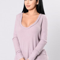 Bear Hug Top - Lavender