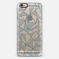 Abstract Lines Blue Transparent iPhone 6 case by Project M | Casetify