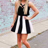 Can't Fight The Stripe High Waisted Skirt