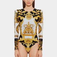 Versace Barocco SS'92 print bodysuit for Women | US Online Store