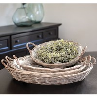Gray Willow Round Baskets | Set Of 4
