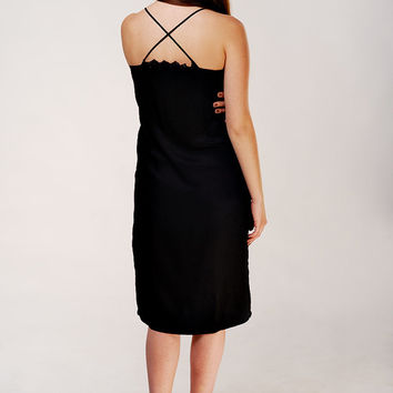 Designer Unique Little Black Dress /Strappy Back Dress /Cocktail Summer Dress /Evening Dress /Elegant Dress /Feminine Dress /Sexy Dress