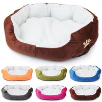2017 New Arrival Winter Pet Products Super Soft Small Animals Dog Cat Bed Pet House Mat Camas De Perros Cheap Dog Kennel Indoor