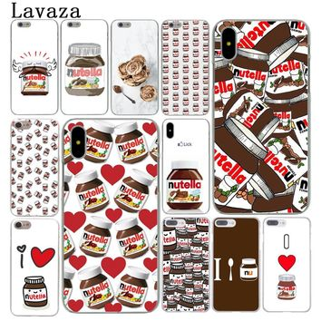Lavaza chocolate Food Tumblr Nutella cute Cover Case for Apple iPhone X XS Max XR 6 6S 7 8 Plus 5 5S SE 5C 4S 10 Phone Cases