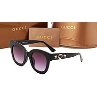 Gucci sells men and women stars Sun Shades Eyeglasses Glasses Sunglasses Black N-ANMYJ-BCYJ