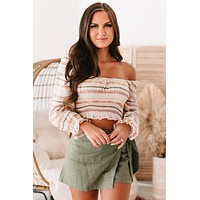 Whimsical Wishes Striped Long Sleeve Top (Petal Combo)