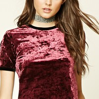 Crushed Velvet Ringer Top