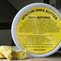 African Shea Butter Cream (100% Pure & Raw, Gold) 8 Oz.