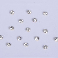 16 Sparkly Silver Stick On Fake Nose Studs With Gold Base/Silver Small Fake Ear Studs/Fake Nose Ring Bindi Studs/ Costume Jewels