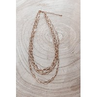 Three's A Crowd Gold Chain Necklace