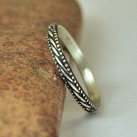 Sterling Rope Ring