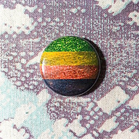 Aromantic Glitter Flag Pinback Button or Magnet