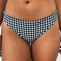 No Worries Bikini Bottom: Black/White