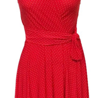 Ruby - Red with White Pin Dots