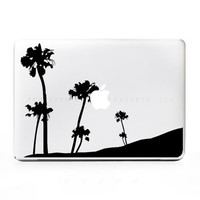 Palm Tree Hill Sticker Decal for Mac PC Laptops - Many Sizes Available - 15+ Colors