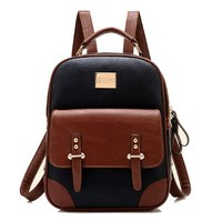 Tinksky® New Arrival Korean Fashion Bag Vintage Backpack College Students Schoolbag (New Version Black)