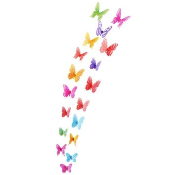 Super Deal wall stickers for kids rooms 18 Pieces 3D Butterfly Decor Wall Sticker Home Wall Decals XT