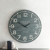 Magnolia Home Courthouse Black Wall Clock