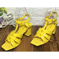 ysl women casual shoes boots fashionable casual leather women heels sandal shoes 158