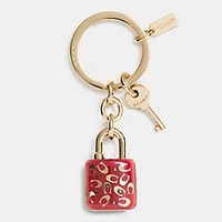 SPRINKLE C LUCITE LOCK KEY RING