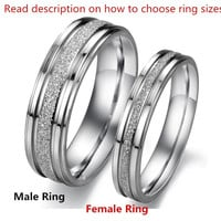 1PCS (One Order One Ring) New Trending Fashion Jewelry Simple Style Mens And Womens 316L Stainless Steel Dull Polish Promise Rings Couples Wedding Bands,Unique Wedding Anniversary  Lover's Ring From Milkle Gift = 1929877060
