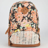 Olivia Floral Crochet Backpack Black Combo One Size For Women 24040214901