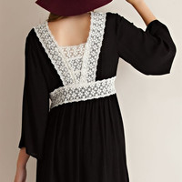 Lace Detail Empire Cut Cardigan - Black