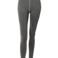 LE3NO Womens Fitted High Rise Workout Tights Ankle Length Yoga Pants (CLEARANCE)
