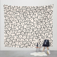 A Lot of Cats Wall Tapestry by Kitten Rain