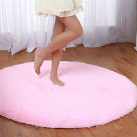 S&V Super soft round carpets chair cushion Yoga mats Area Rugs for bedroom and living room christmas decoration [8295300551]
