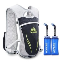 Running Vests Jogging AONIJIE Hydration Pack Men Women  Outdoor Bags Water Bladder Bag with Tow BPA  Soft Water Bottle Sports Backpack KO_11_1