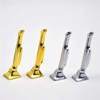 Two Type Silver And Gold Snuff Snorter Sniff Metal Tube Vacuum Sniffer Smoking Pipe Color Send Randomly