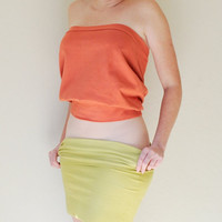 Loose Fit Tube Top in Stretch Knit Cotton Billowy Tube by SewRed