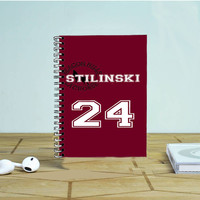 Teen Wolf Inspired Stiles Stilinski Jersey Photo Notebook Auroid