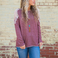Weight Of The World Top, Burgundy