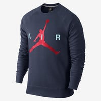 The Jordan Jumpman Graphic Brushed Crew Men's Sweatshirt.