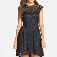 Women's Adelyn Rae Lace Fit & Flare Dress,