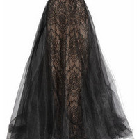Marchesa Strapless tulle and lace gown – 65% at THE OUTNET.COM