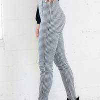 Zipper Gingham Pants