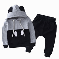 Mickey Kids Clothes Boys Clothing Set Baby Girls Clothes Set Hoodies Set Hooded jackets