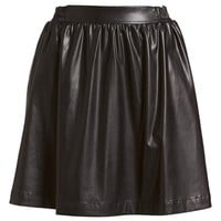 izzue Pleated Faux Leather Skirt (Women)