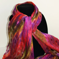 Chiffon Scarf Mardi Gras Color NEW ORLEANS by LifeistheBubbles
