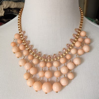 Calyx Necklace Set - Peach